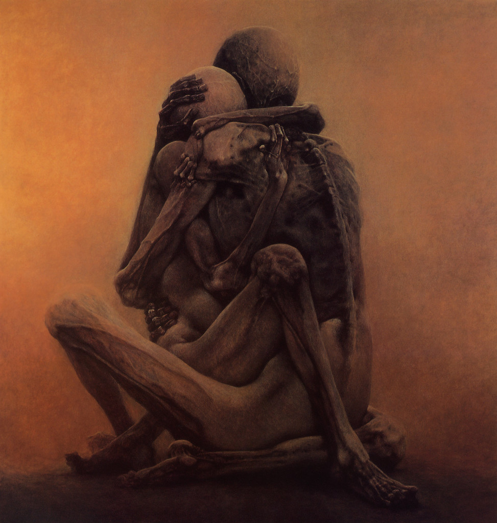 Untitled painting by Zdzislaw Beksinski 1984