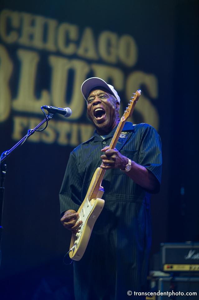 Zapłakany deszczem Chicago Blues Festival