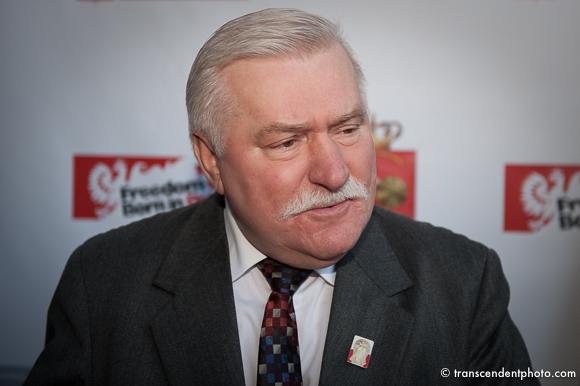Na zdjęciu Lech Wałęsaw Chicago porozumienia sierpniowe