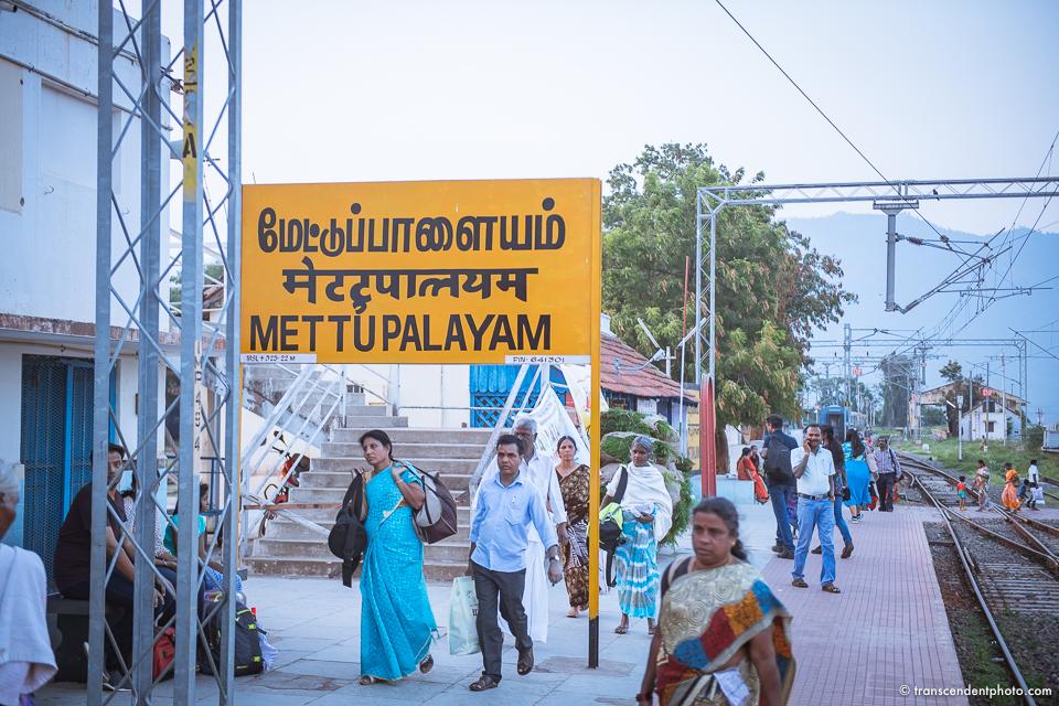 Błękitne Góry w Ooty - dworzec kolejowy w Mettupalayam
