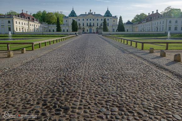Białystok, widok na pałac Branickich
