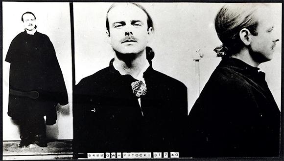 Zdjęcie policyjne hrabiego Potockiego. wiki - Count Geoffrey Potocki de Montalk
