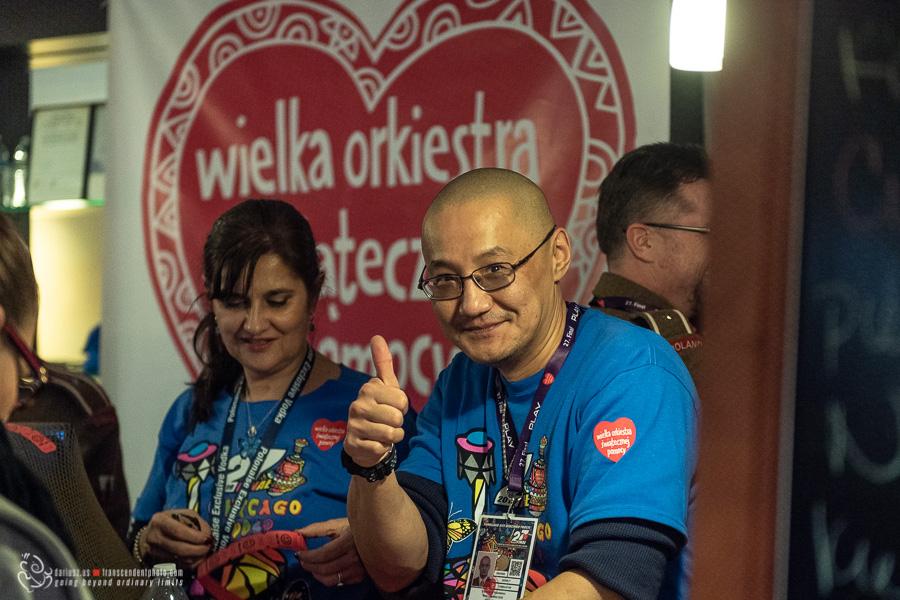 wolontariusz WOŚP w Chicago