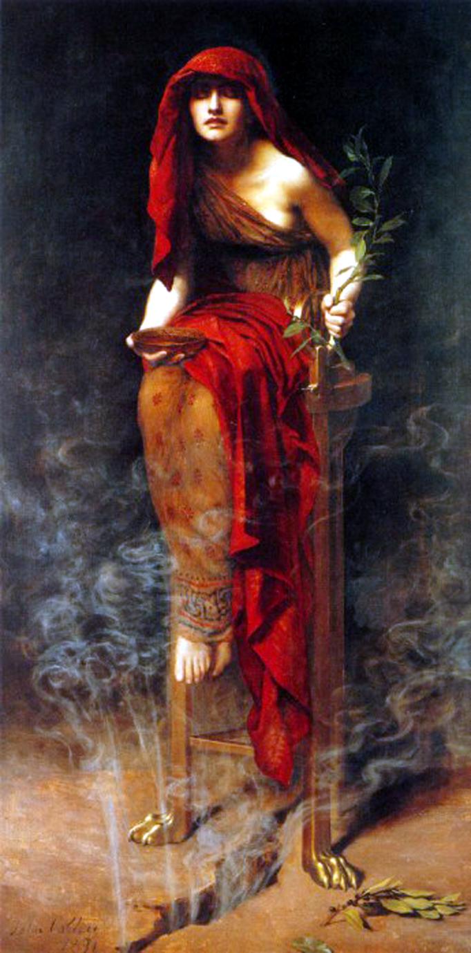 John Maler Collier - Priestess of Delphi, 1891