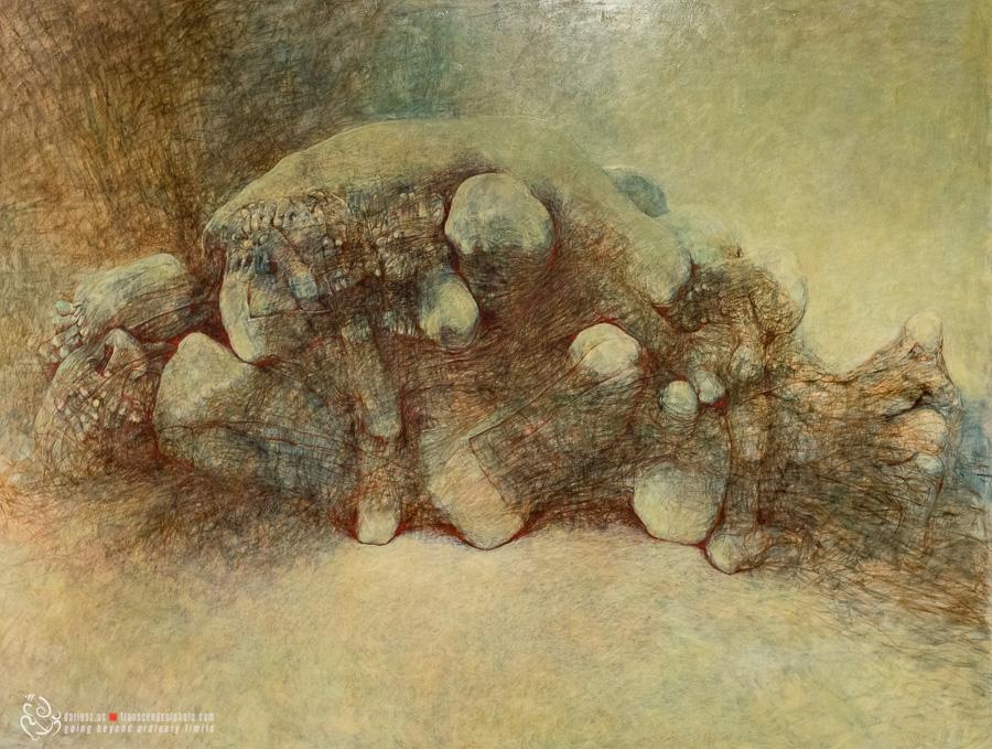 Niepowtarzalna lekcja ludzkiej anatomii na obrazie Beksińskiego