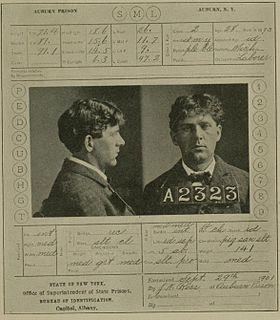 Karta więzienna Leona Czolgosza