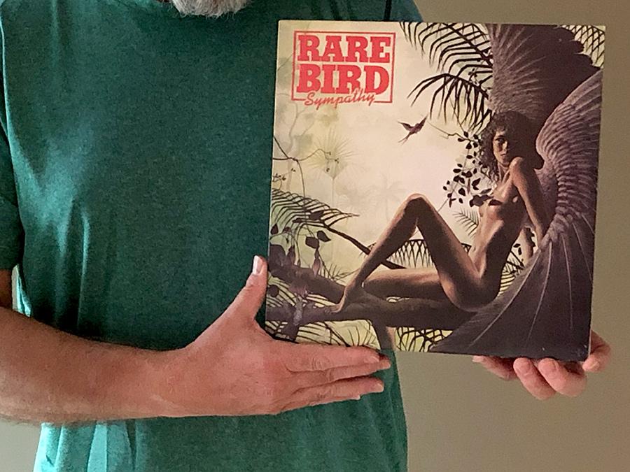 Misiek z plyta grupy Rare Bird