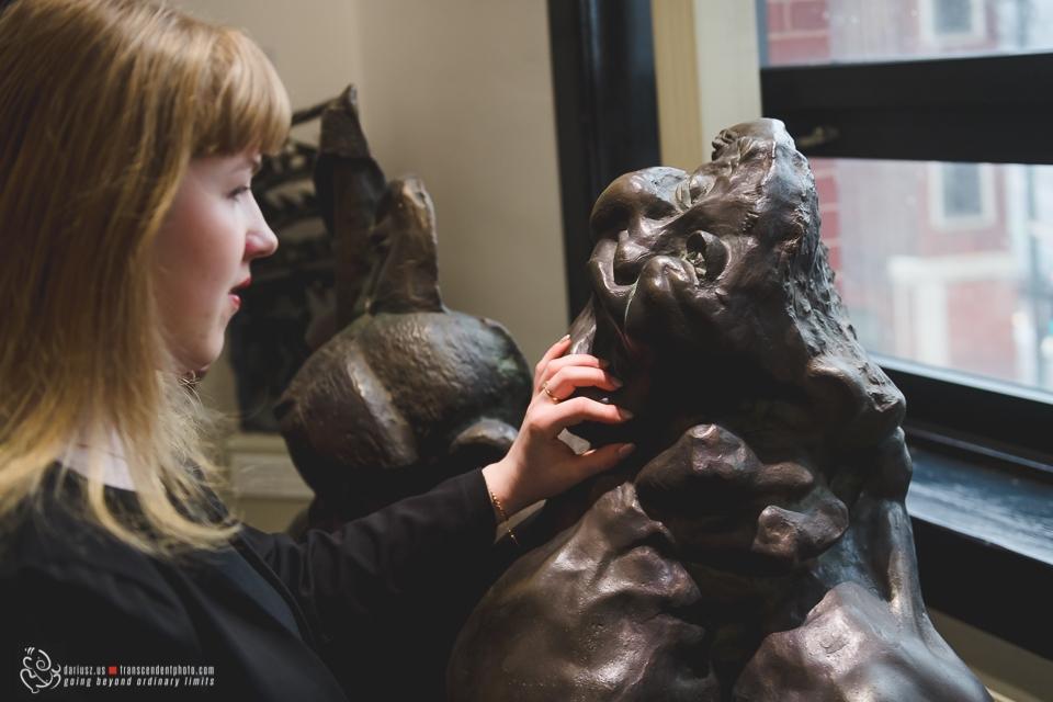 Mirela Moldovan, którą spotkałem w muzeum...