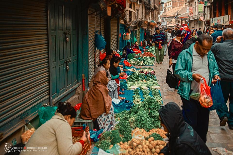 Uliczna sprzedaż warzyw