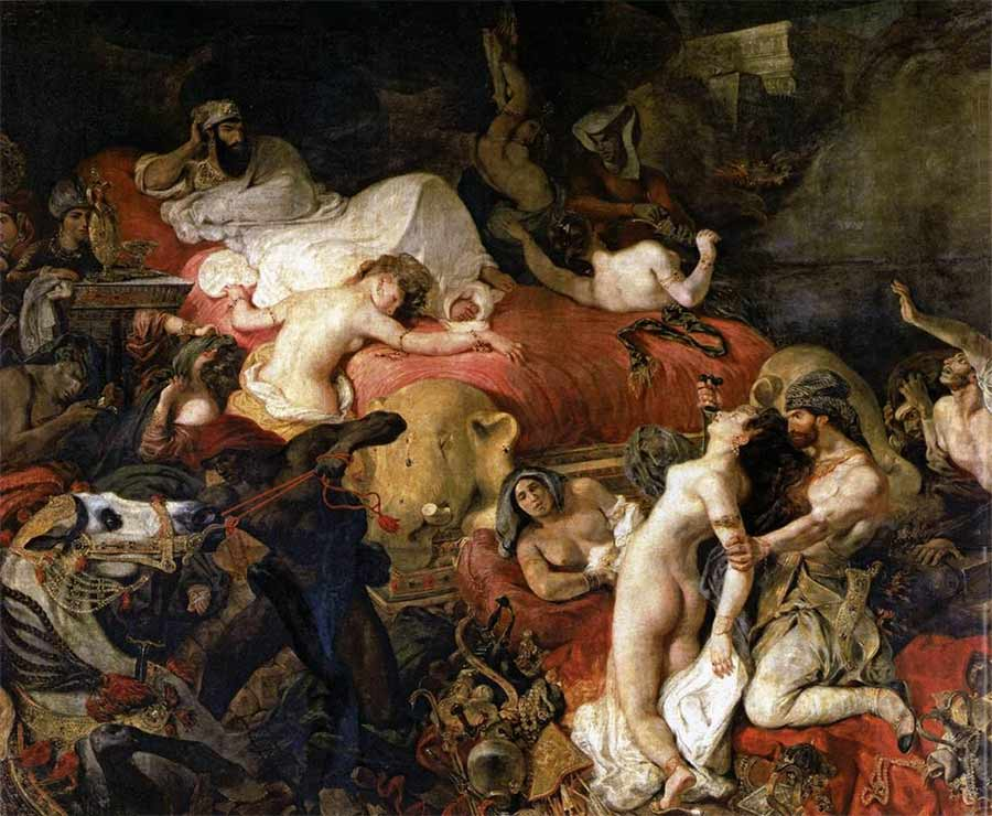 Eugene Delacroix The Death of Sardanapalus Painting