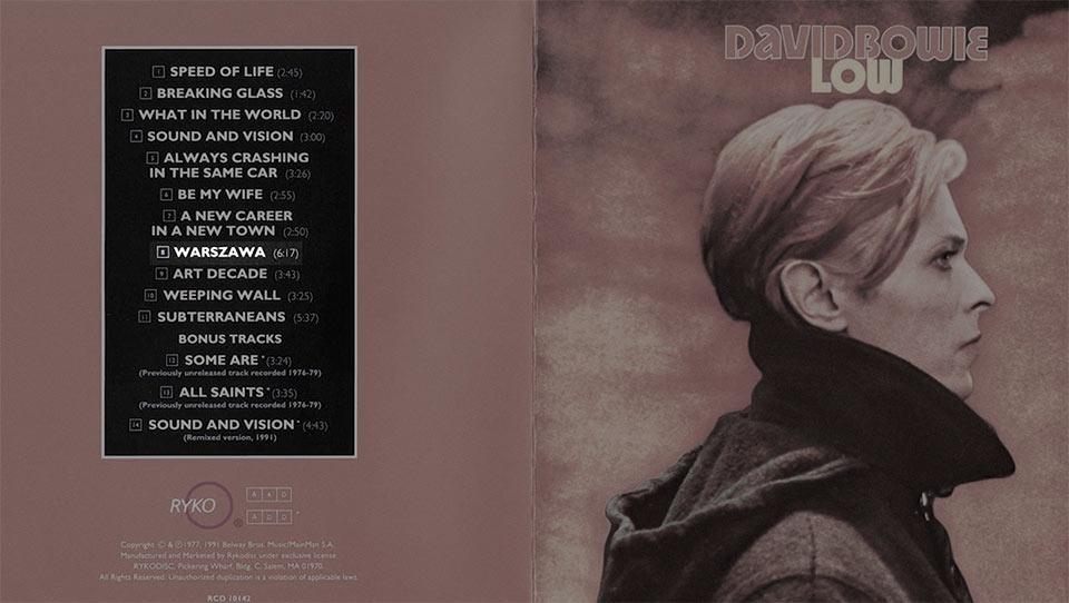 Zdjęcie przedstawia okładkę albumu Low, Davida Bowiego