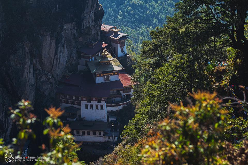Klasztor Tiger's Nest widziany z góry