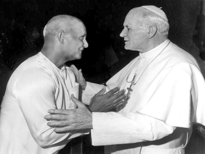 Sri Chinmoy oraz papież Jan Paweł II