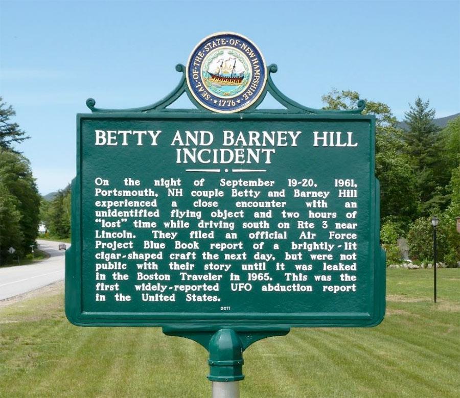 Miejsce porwania Betty i Barneya Hill przez kosmitów
