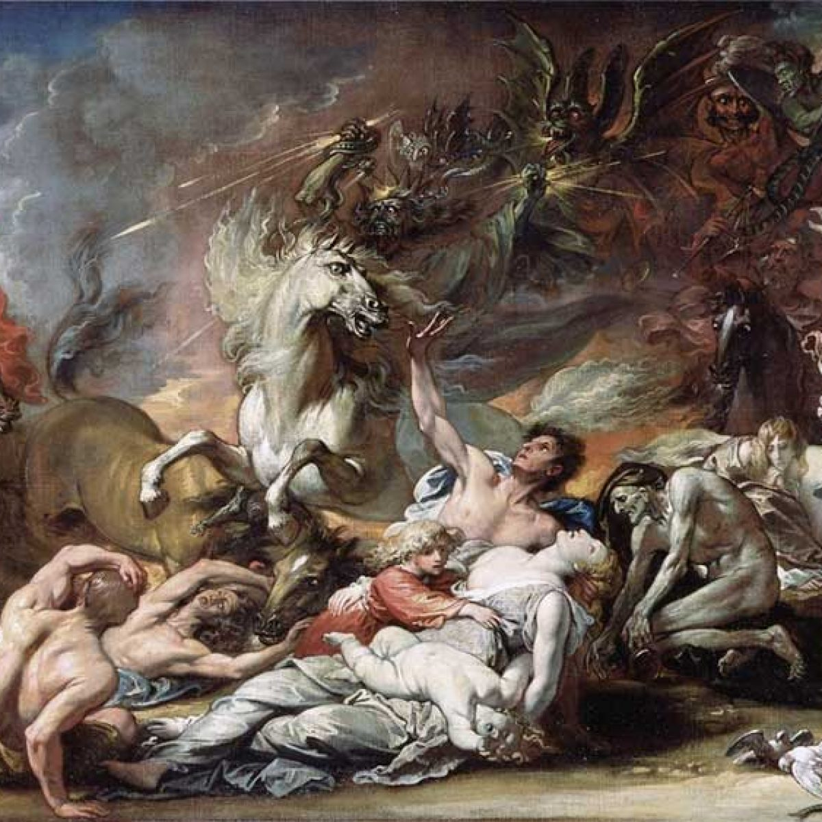 """Death on the Pale Horse,"" painted by the American artist Benjamin West in 1796."