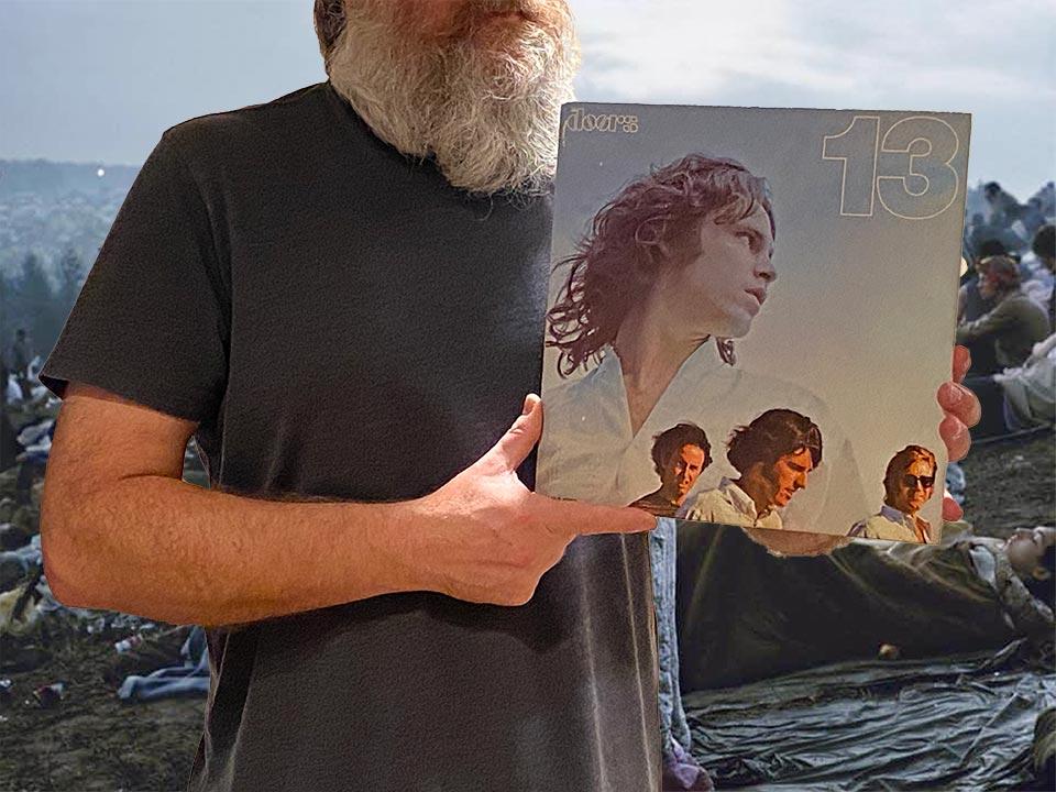 Na tym zdjęciu prezentuję oryginalną okładkę albumu The Doors - 13