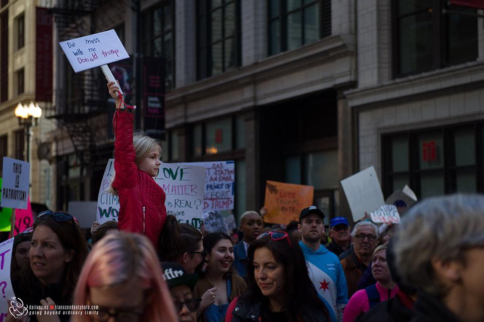 Dont mess with me Donald Trump, protesty podczas Marszu Kobiet w Chicago